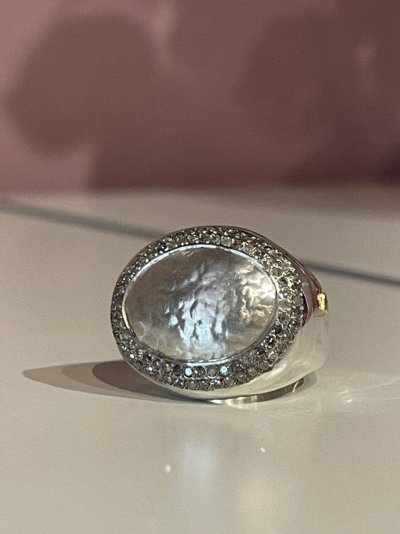 Rosa Maria Jewellery, Jewel Silver Ring Icy Grey Diamonds